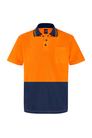 HIGH VIS SHORT SLEEVE MICROMESH POLO (TWO TONE)