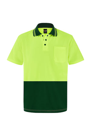 HIGH VIS SHORT SLEEVE MICROMESH POLO (TWO TONE)-Riggers Online Store