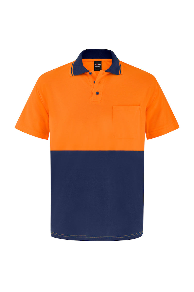 HIGH VIS SHORT SLEEVE BAMBOO POLO (TWO TONE)-Riggers Online Store