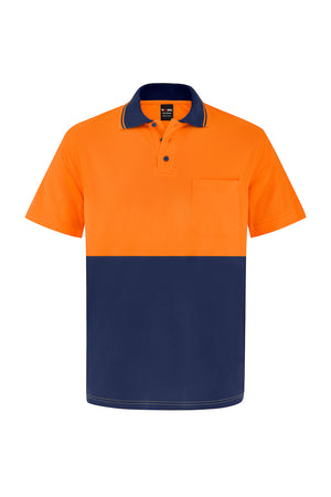 HIGH VIS SHORT SLEEVE BAMBOO POLO (TWO TONE)