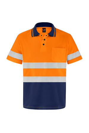 HIGH VIS SHORT SLEEVE MICROMESH POLO (REFLECTIVE - TWO TONE)