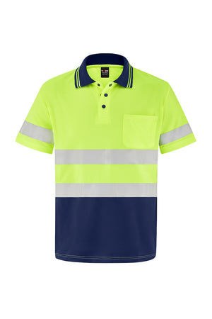 HIGH VIS SHORT SLEEVE MICROMESH POLO (REFLECTIVE - TWO TONE)-Riggers Online Store