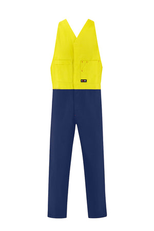 HIGH VIS HEAVY WEIGHT COTTON DRILL ACTION BACK OVERALL (TWO TONE)-Riggers Online Store