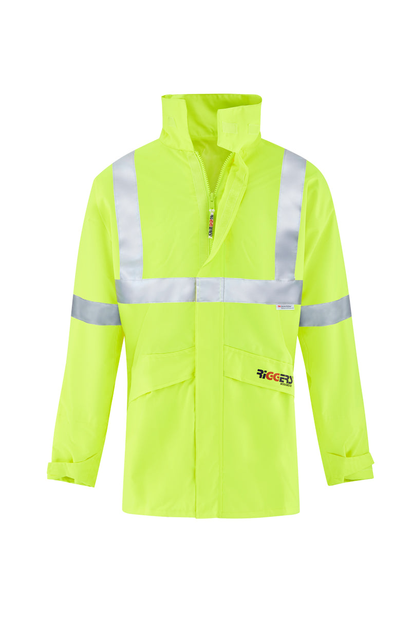 RAIN BREATHABLE AND WATERPROOF STORM JACKET (REFLECTIVE)-Riggers Online Store