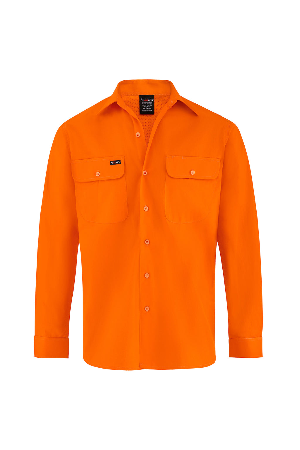 HIGH VIS ULTRA COOL LONG SLEEVE COTTON VENTED SHIRT-Riggers Online Store