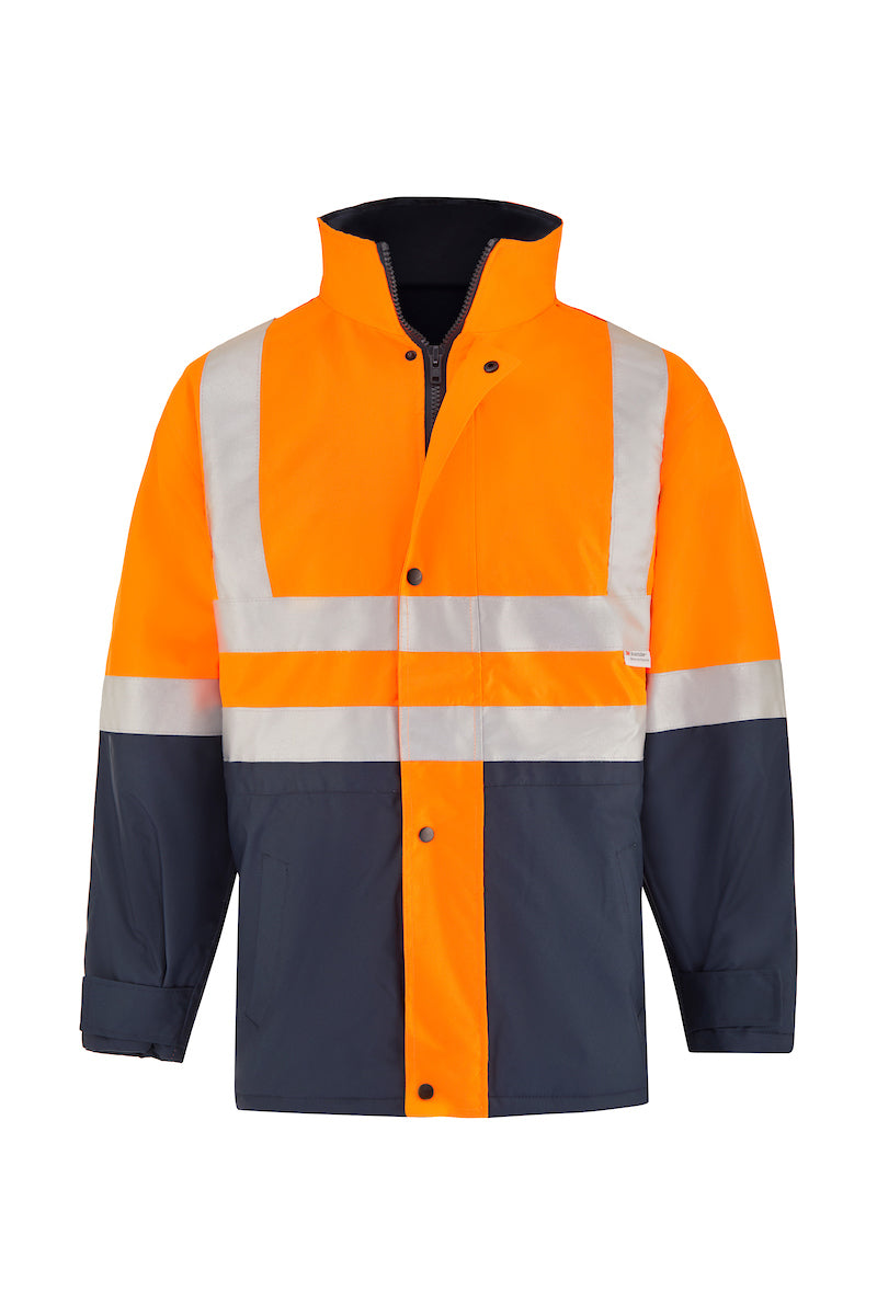 SAFETY QUILTED STORM JACKET (REFLECTIVE - TWO TONE)-Riggers Online Store