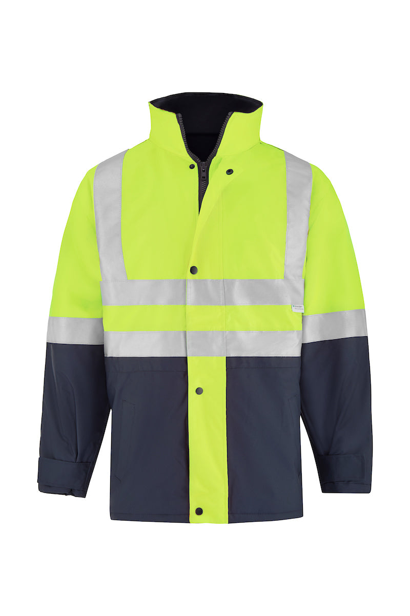 SAFETY QUILTED STORM JACKET (REFLECTIVE - TWO TONE)