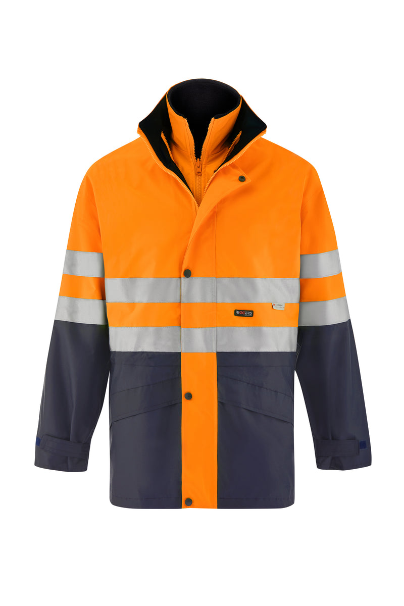 4 IN 1 SAFETY JACKET AND VEST (HOOP REFLECTIVE - TWO TONE)-Riggers Online Store