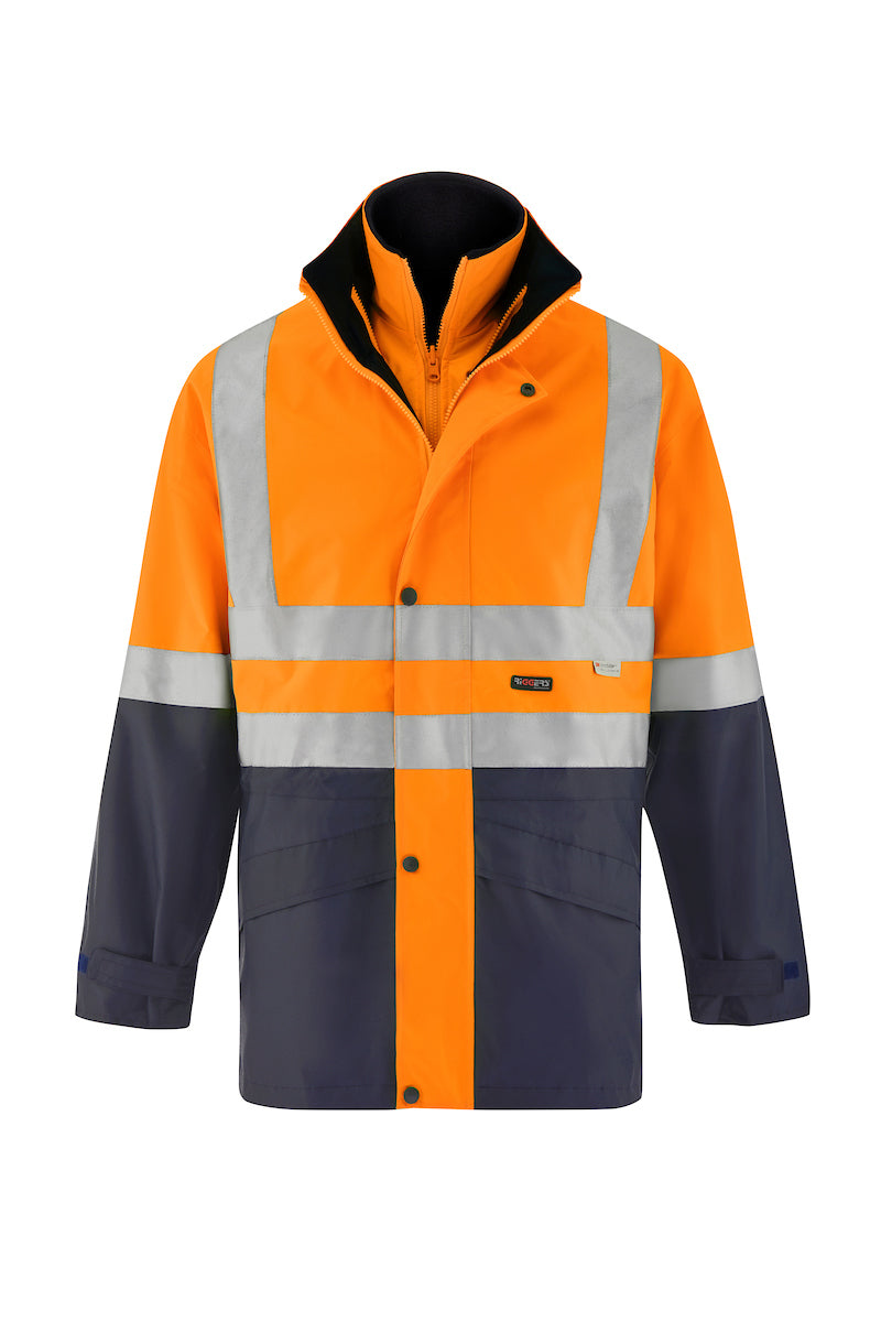 4 IN 1 SAFETY JACKET AND VEST (REFLECTIVE - TWO TONE)
