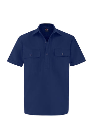 SHORT SLEEVE CLOSED FRONT COTTON DRILL SHIRT-Riggers Online Store