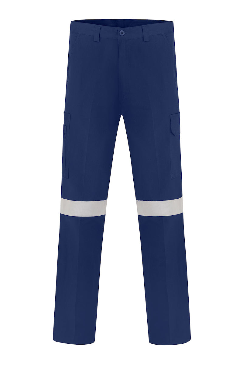 LIGHT WEIGHT COTTON DRILL CARGO TROUSERS (REFLECTIVE)-Riggers Online Store