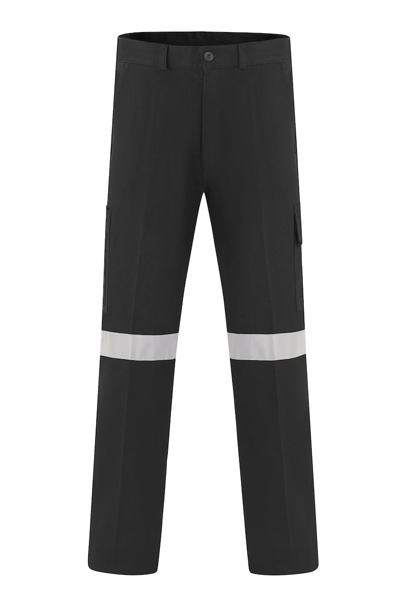 HEAVY WEIGHT COTTON DRILL CARGO TROUSERS (REFLECTIVE)