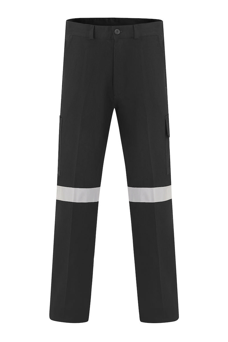 HEAVY WEIGHT COTTON DRILL CARGO TROUSERS (REFLECTIVE)-Riggers Online Store
