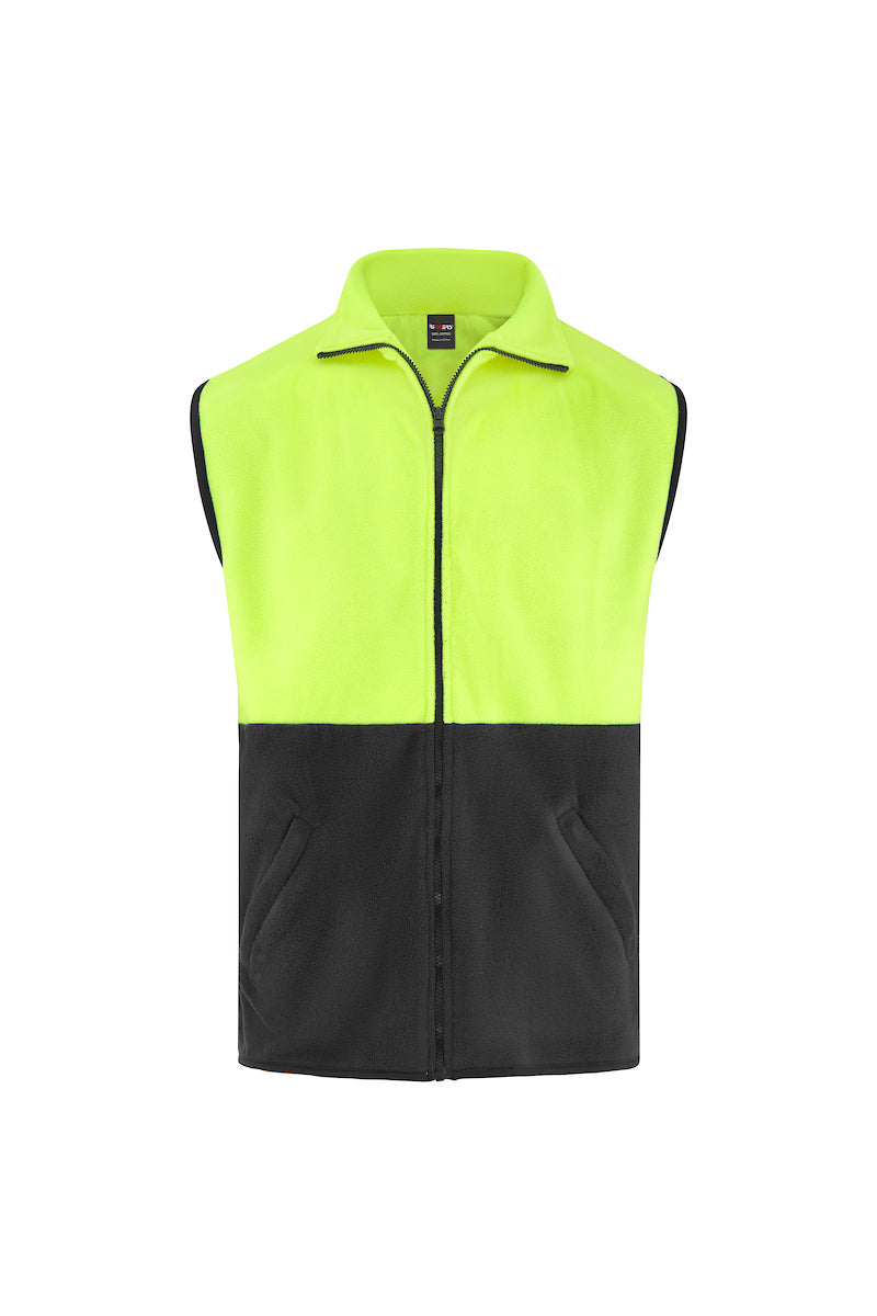 FULL ZIP POLAR FLEECE VEST (TWO TONE)