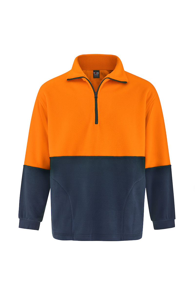HALF ZIP POLAR FLEECE WINDCHEATER (TWO TONE)