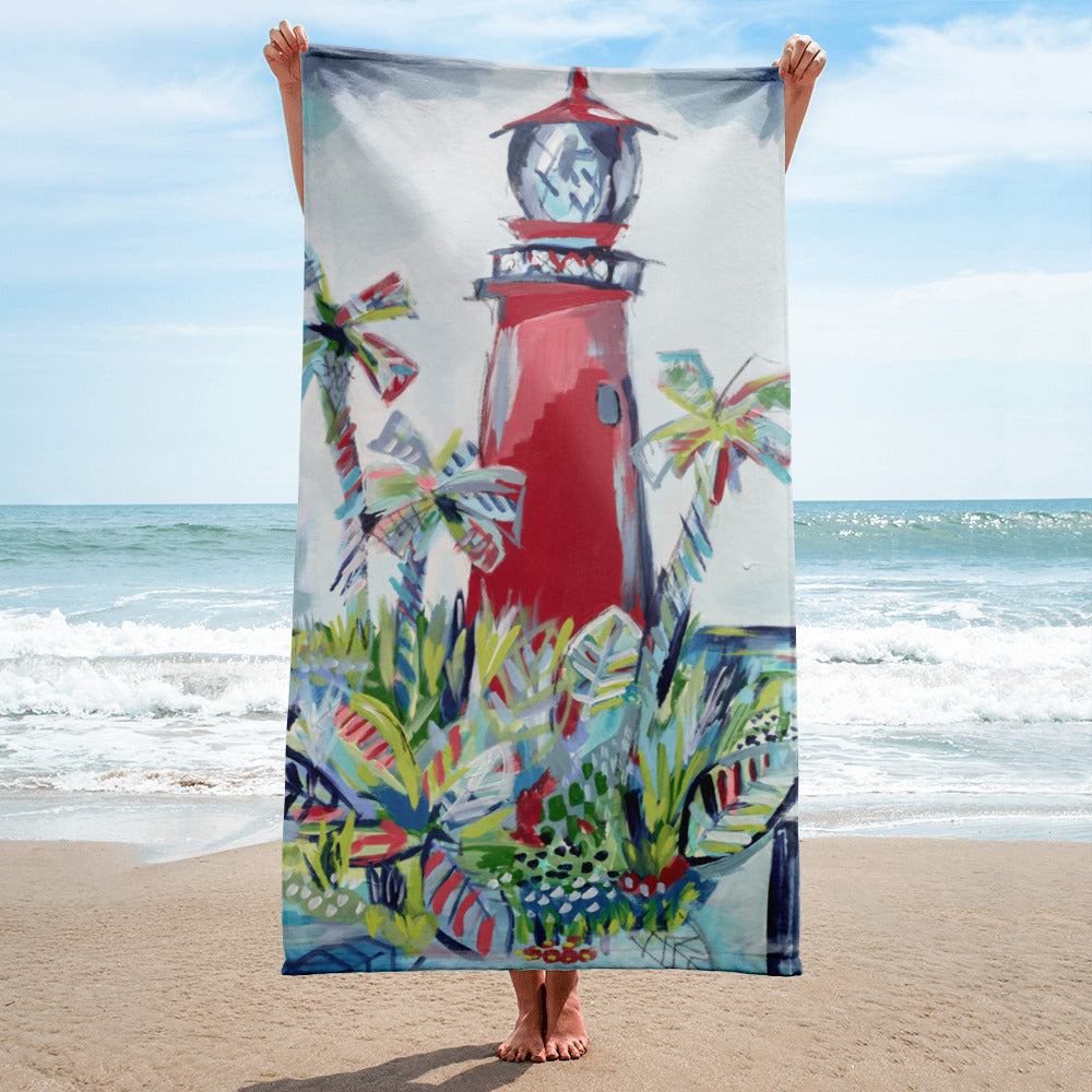 Jupiter Lighthouse Towel