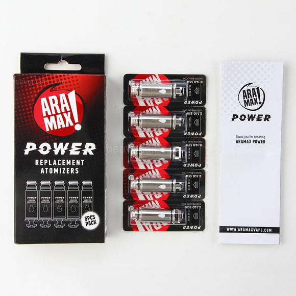 Aramax Power replacement atomizers (5 pcs)