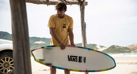 Dane Reynolds Surfs an Asymmetrical Surfboard with Varial Foam