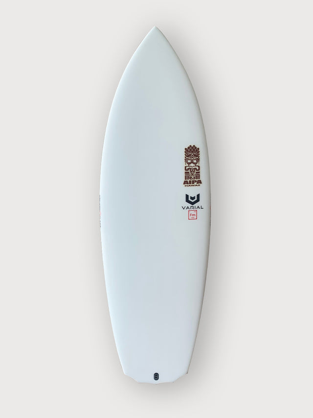 "Akila Aipa twin fish surfboard for sale. 5'3"" featuring varial infused glass and varial foam. Twin surfboard, futures fins, in stock surfboard, akila aipa surfboard, performance surfboard, twin fin surfboard"
