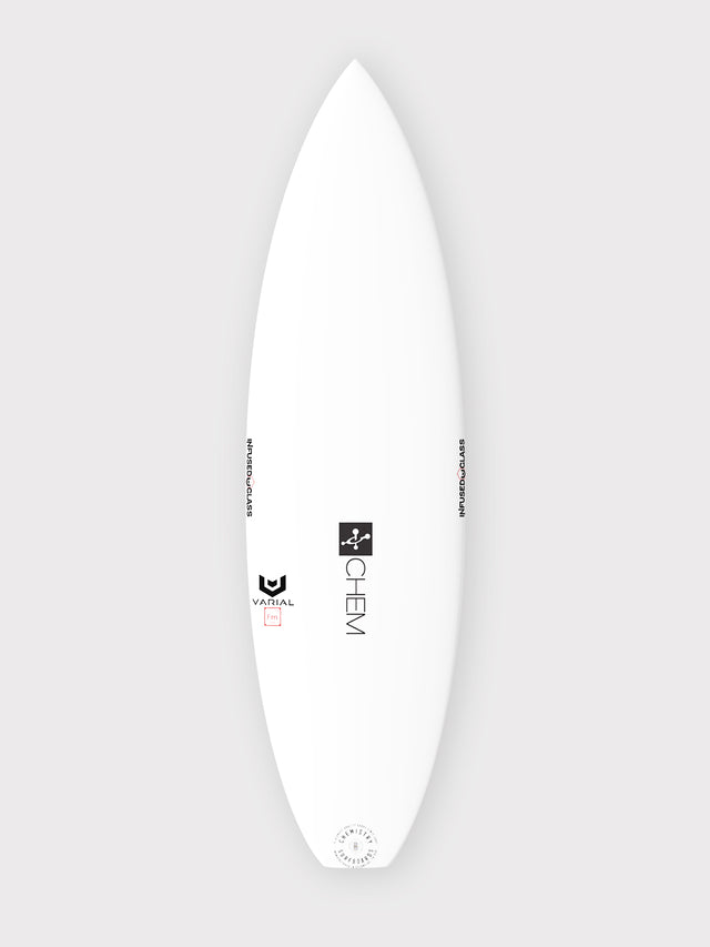 Chemistry Surfboards Flashpoint for sale. Built with Varial Foam and Infused Glass Technology. Fully customizable performance surfboard. Epoxy or polyester resin, Futures of FCSII fins, colored airbrush and custom glass.