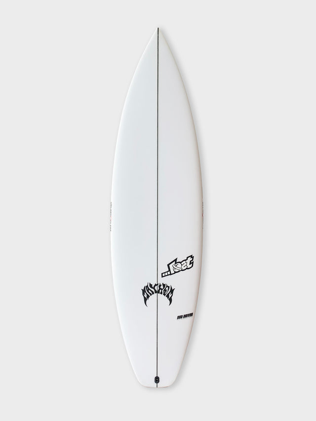 5'10 ...Lost Subdriver polyurethane surfboard with Varial Infused glass. Performance surfboard, 3 fin surfboard, subdriver surfboard, lost surboard. Standard surfboard lay up, polyester resin, futures thruster surfboard