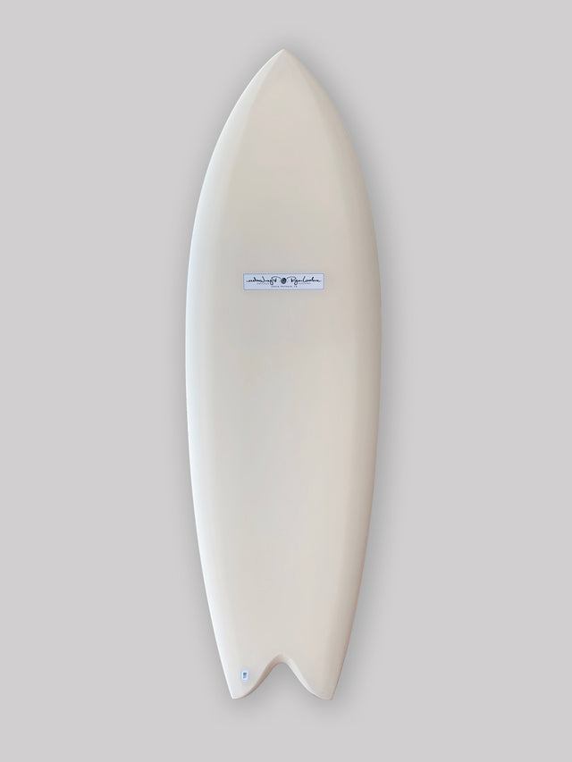 Lovelace surfcraft fish surfboard. Hand shaped surfboard by Ryan Lovelace. Twin fin surfboard, fish surfboard, performance surfboard. In stock Ryan lovelace surfboard. Built with Varial foam infused glass and varial foam stringerless surfboard blank.