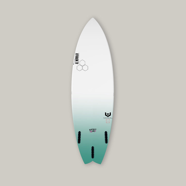 Channel Islands rocket wide surfboard with varial surf technology and infused glass. Customizable channel islands surfboard, custom rocket wide surfboard, performance surfboard, high tech surfboard, stringerless surfboard, groveler surfboard, CI surfboard