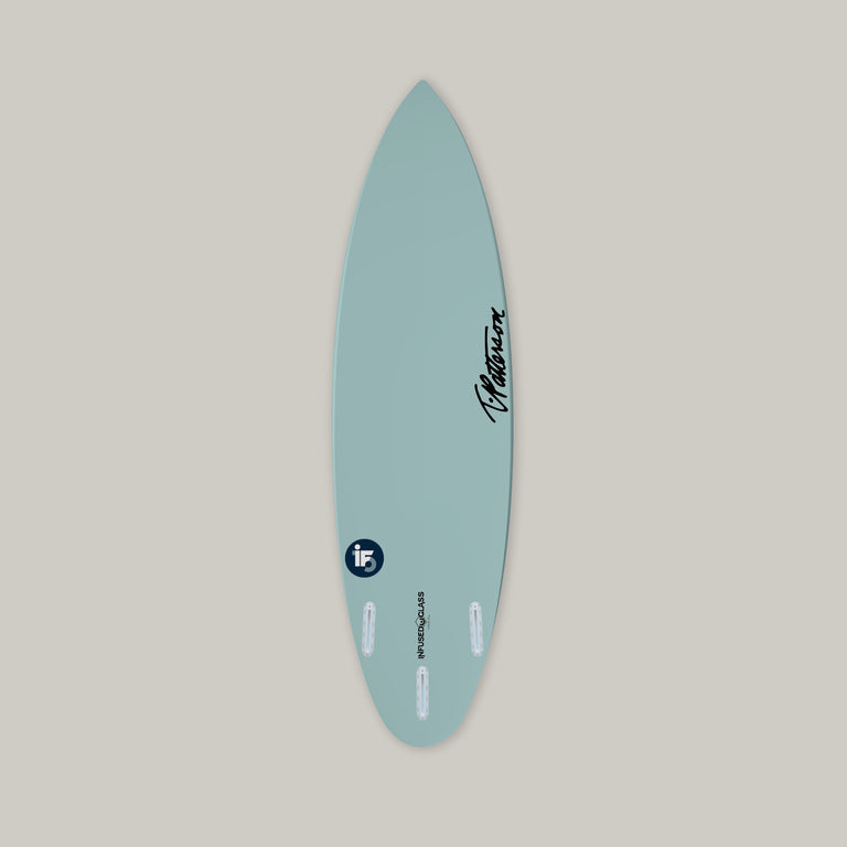 Italo Ferreira surfboard T.Patterson IF-15 model for sale. Built with Varial Foam and Infused Glass. Custom performance surfboard. Polyester resin, epoxy resin. Futures or FCSII fins. Custom airbrush colors, custom surfboard art, custom surfboard glass layup, custom surfboard design