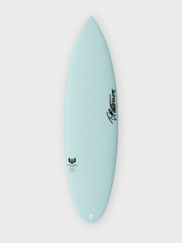 T.Patterson Surfboards IF-15 Italo Ferreira Model with Varial Foam and Infused Glass. Fully customizable performance surfboard. Polyester or epoxy resin. Futures or FCSII fins. Custom airbrush colors and glass layup choice.
