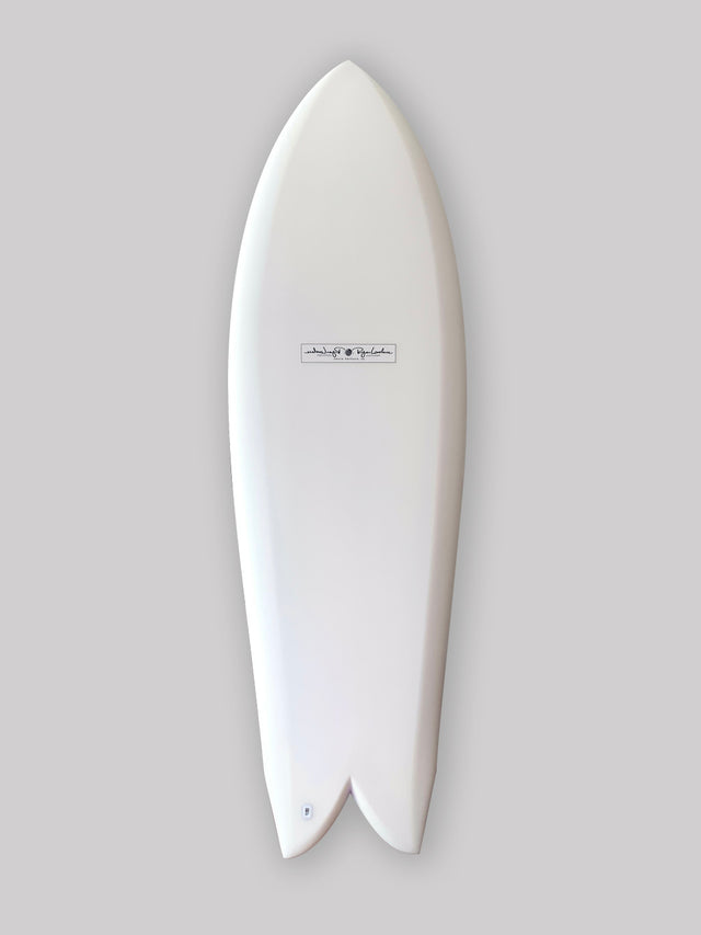 Ryan Lovelace sidecut keel surfboard. Asymmetrical design surfboard, asym, performance surfboard. Hand shaped surfboard by Ryan Lovelace. In stock lovelace surfboards with Varial foam infused glass and varial surfboard foam, futures fins, polyester resin