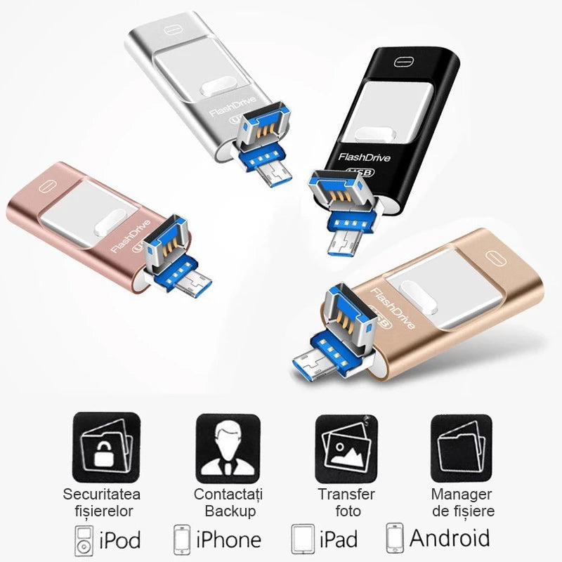 Unitate flash USB portabila pentru iPhone, iPad si Android