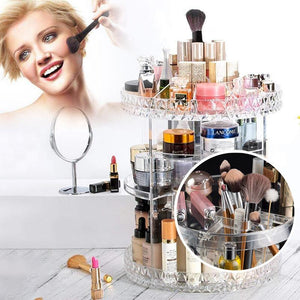 360 ° Rotitoare Crystal Cosmetic Storage Box