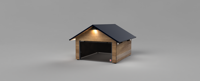 NEW colour: garage for your Automower 430x in wonderful Oak colour