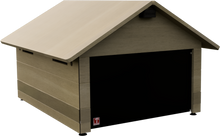 Load image into Gallery viewer, robotic lawn mower shed plywood ultra durable with flap, with solar led