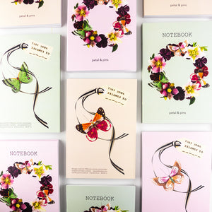 Butterfly Garland Notebooks by petal & pins
