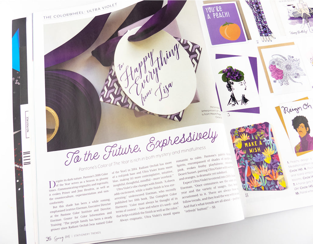 petal & pins in stationery trends magazine