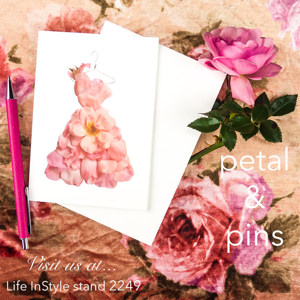blush pink rose card by petal & pins - visit us at Life InStyle 2018 at stand 2249