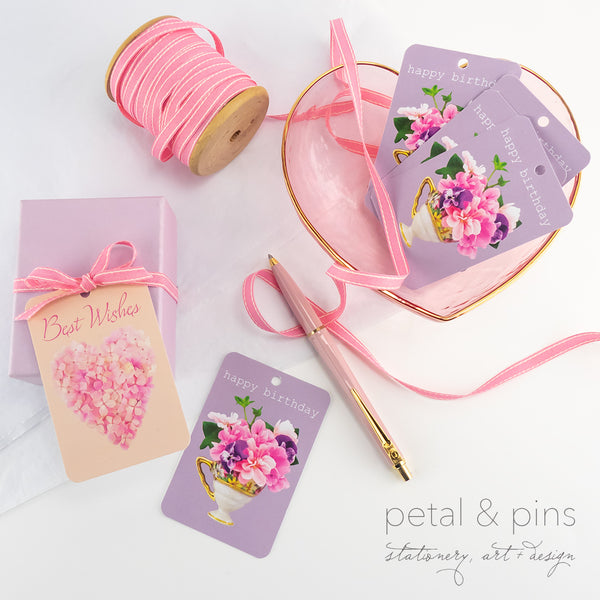gift tags from the scrapbook collection by petal & pins