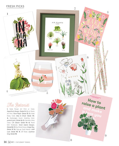 petal & pins cream hydrangea dress card in Stationery Trends Fall 2018 issue