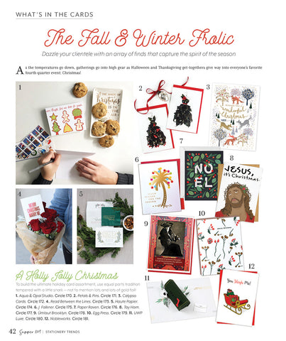 petal & pins holly dress cards featured in Stationery Trends magazine Summer 2019