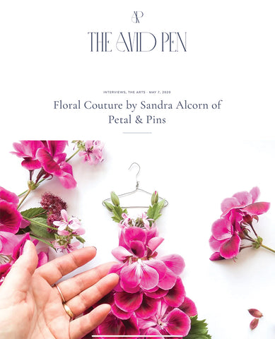 petal & pins featured on The Avid Pen blog
