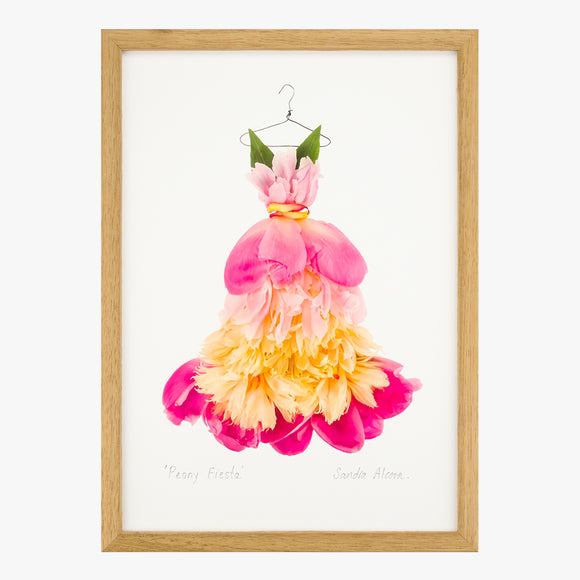 peony fiesta dress art print from the Farmgate Project by petal & pins