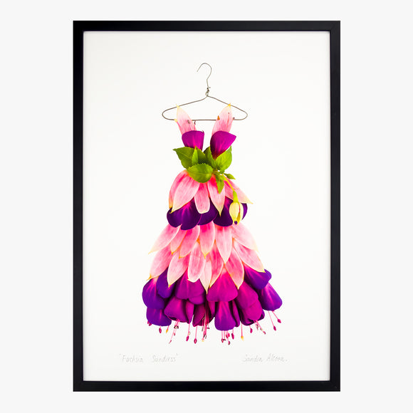 fuchsia sundress art print by petal & pins