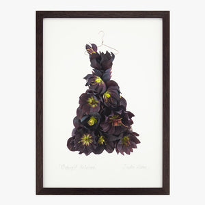 midnight hellebore dress art print from the Garden Fairy's Wardrobe by petal & pins