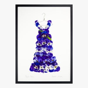 purple pansy dress art print by petal & pins