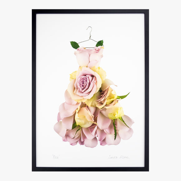 rosa dress art print by petal & pins