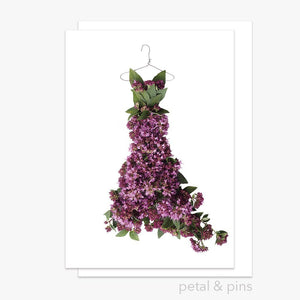 oregano dress greeting card by petal & pins