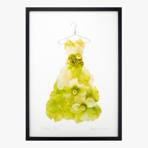 chartreuse hellebore dress giclée art print from the Garden Fairy's Wardrobe by petal & pins