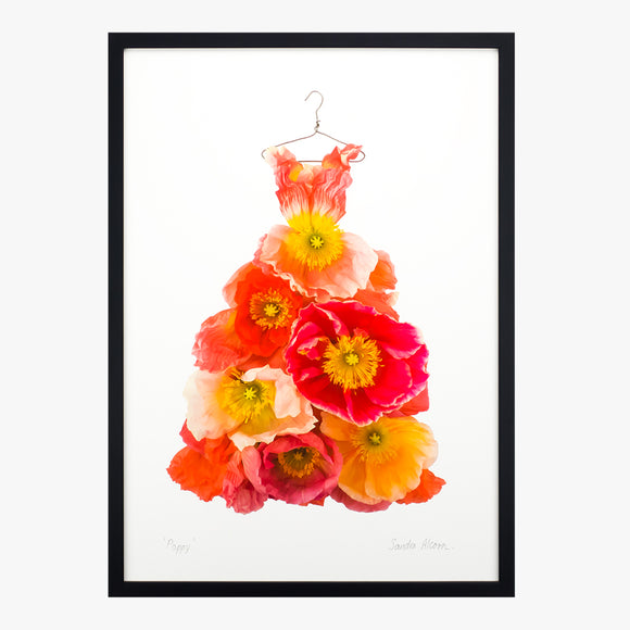 poppy dress art print from the garden fairy's wardrobe by petal & pins