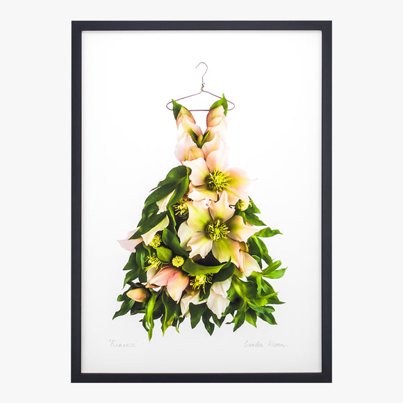romance dress art print from the Garden Fairy's Wardrobe by petal & pins